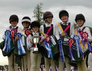 Winning national Junior Mounted games team