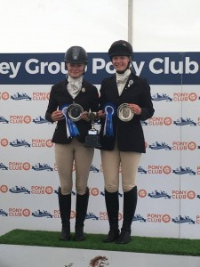 1st Place for Molly and Evie in the Pairs Dressage to Music for Bramham Moor