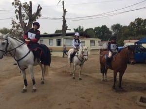 team on horses