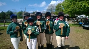 Team 4th at the Area 9 Horse & Pony Care Competition
