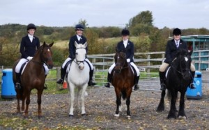 winter league dressage winneing team