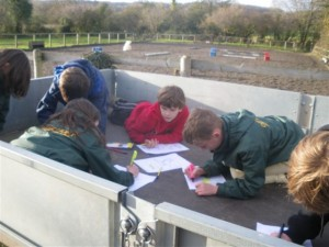 Studious participants for the Mini Horse Clothing Badge