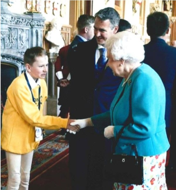 William meets the Queen