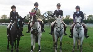 Talia, Jade, Charlotte and class winner Nancy