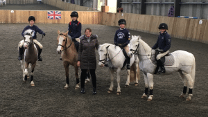 Some of our members with International Dressage Rider, Alex Hardwick, at a recent rally.
