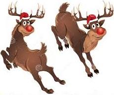 reindeer jumping clipart