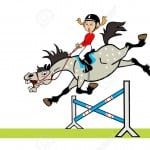 15230342-cartoon-image-of-little-girl-with-happy-pony-horse-jumping-a-hurdle-children-illustration-isolated-o-Stock-Vector