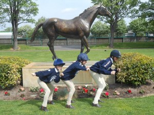 Junior Horse & Pony Care Team having fun at Aintree