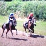 Steph and Mali racing