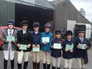 Mia Smith, Hattie Nions, Daisy Grove, Lucy Allsop, Phoebe Watts, Sarah Bilsby and Lottie Gilderson pass C Test - Well done!