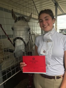 Genevieve Manning with her B Test - Well Done!