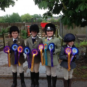 ONE OF OUR LITTLE SHOW JUMPING TEAMS AT ALLENS HILL