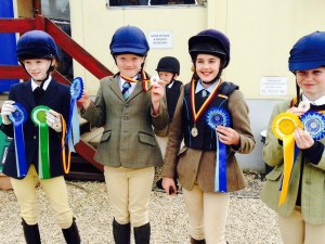 VERY HAPPY GIRLS AFTER WINNING THEIR SHOW JUMPING TEAM EVENT