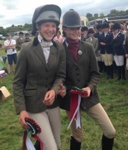 A Very Happy Holly Osbourne who qualified at Area Dressage at Gadbury qualifying her for the National Championships