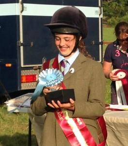Lillybelle Brown winning the Junior Area 9 Dressage at Gadbury