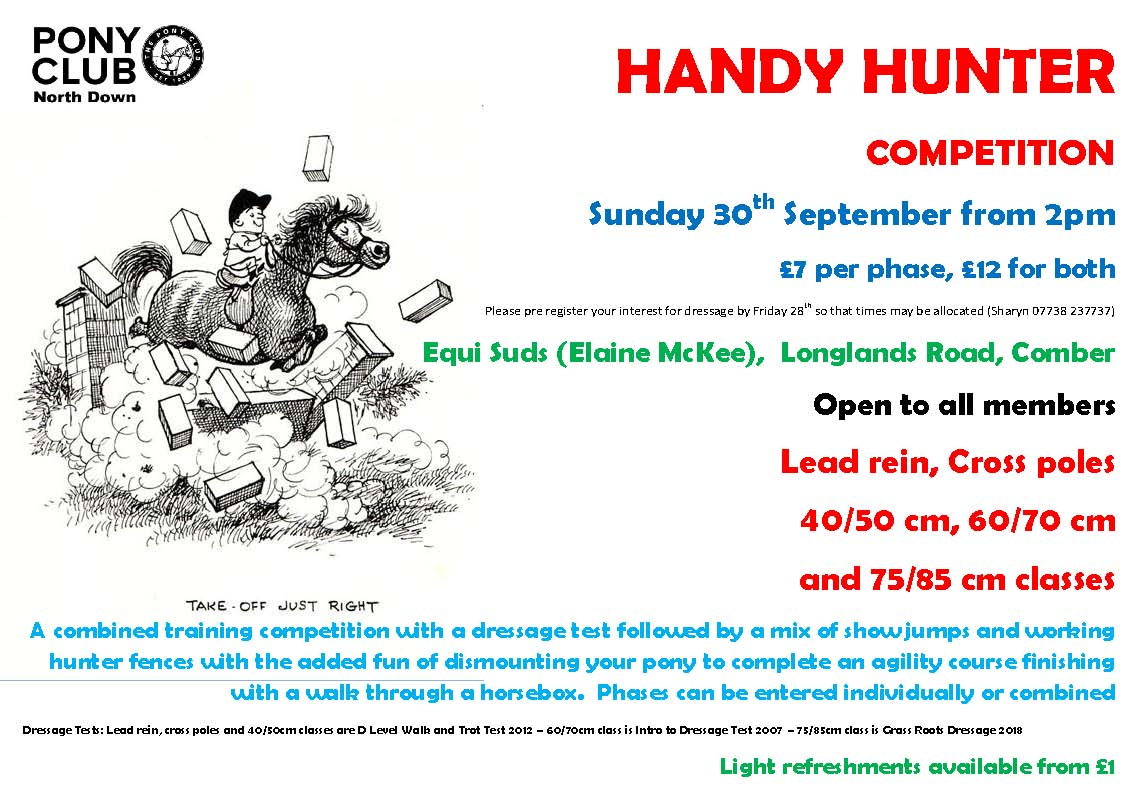 Handy Hunter September 2018 North Down Pony Club