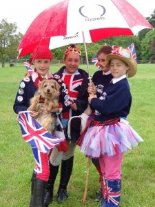 Still having fun at a wet Jubilee Jamboree