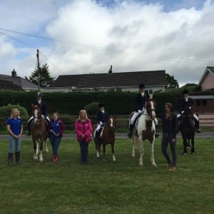 Dressage team and Grooms