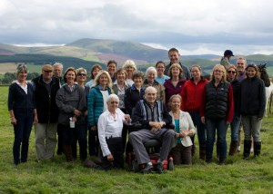 The committee past and present at Annual Show 2015 - celebrating 40 years of Peebles Tweeddale branch.