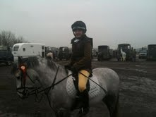 Danielle McCormack after winning the one of the classes at West Wilts Dec 11