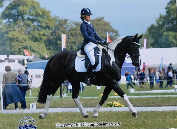 Sophie Hall in Area 7 Combined Dressage Team at Pony Clun Chamionships 2018