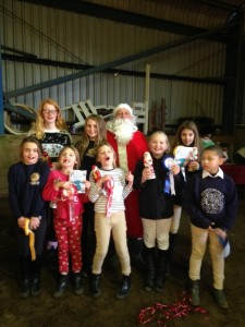 Look we even had a visit from Father Christmas!