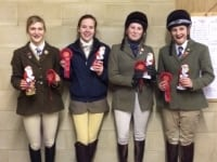 VWH Miri King, Hattie Hansard, Jessie McNally and Hermione West the VWH Christmas Crackers were 4th in the 95cm.  Well done great jumping