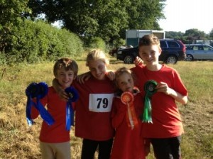 Oli, Katie, Zoe and Max at Area Tetrathlon 2013
