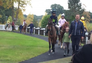 Honor & Toffee in pre-parade ring