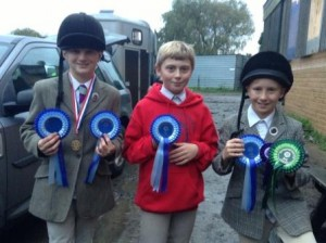 Mini Boys Team Winners - Ed, Michael & Ben