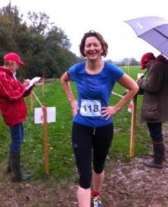 Oh dear! Mrs Moss completing the run in the rain.