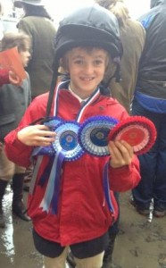 Oli Hill winner of mini mini boys