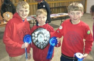 Ed, Ben & Michael Win the Mini Boys Competition at Ardingly