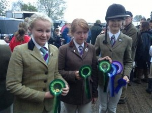 Third placed mini girls team - Juliette, Megan & Kate