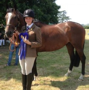 Freya Elliott at Area Dressage 2013 - Qualified for Championships
