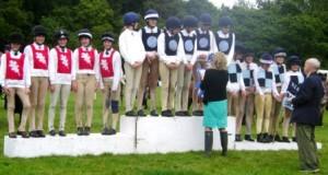 Senior games on the podium