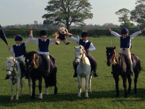 The Junior Mounted Games Team which qualified for the Zones